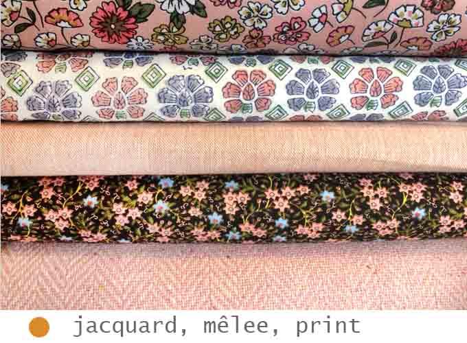 Jacquard, mêlee, print