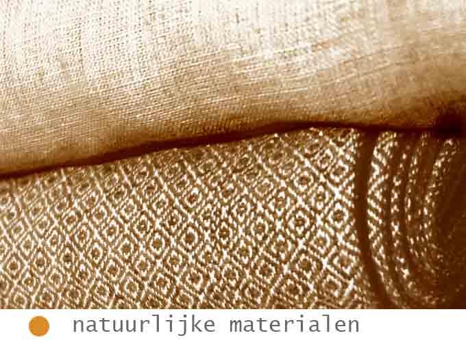 natuurlijke stoffen zoals linnen en katoen