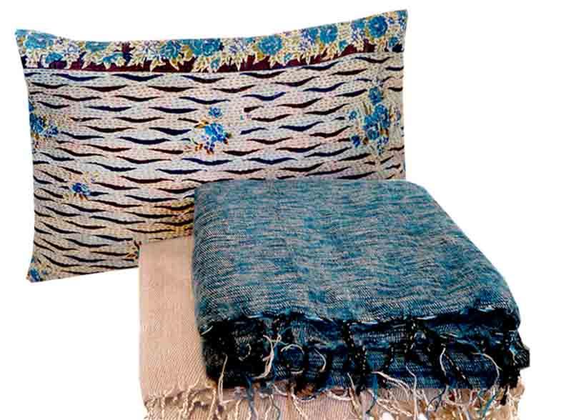 Zachte dekens van wolmix met katoen in diverse kleuren € 44,95