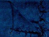 Detail deken wolmix/katoen gemêleerd blauw/zwart