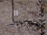 detail deken wolmix/katoen gemêleerd warm grijs/bruin