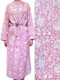 kimono katoen -roze op wit blockprint