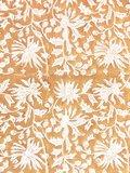 stofdetail kimono katoen -karamel op wit blockprint
