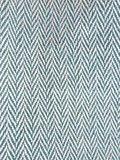 stofdetail  tas / tote bag XL -ronde bodem visgraat- turquoise