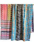 deken quilt vintage katoen - retrodessins multicolor patchwork