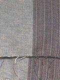 sjaal/omslagdoek mixed wool-sierrand - warm grey
