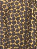 sjaal zijde-2 met print oker/zwart_