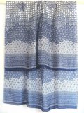 sjaal zijde-3 met print blauw/wit_