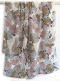 sjaal zijde-4 met print roze/oker/zwart_