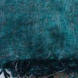 UITVERKOCHT-sjaal/omslagdoek mixed wool - petrol/grey_