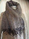sjaal/omslagdoek mixed wool - brown/grey_