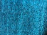 deken-plaid wolmix/katoen gemêleerd turqoise/zwart_