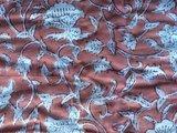 deken quilt eenpersoons reversible blockprint -framboos roze/rood_