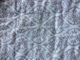 deken quilt eenpersoons reversible blockprint -koraalroze/grijs_