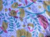 UITVERKOCHT-deken quilt eenpersoons reversible blockprint -mosterd-roze/blauw_
