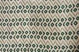 plaid/ deken handwoven cotton green/white_