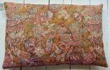 UITVERKOCHT-sierkussen vintage zijde/katoen 3 -multicolour abstract _