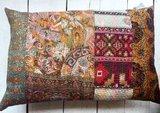 sierkussen 60x40 vintage 2-full silk patchwork_