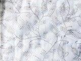 deken quilt tweepersoons reversible blockprint -licht beige-geel/grijs_