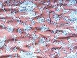 deken quilt tweepersoons reversible blockprint -framboos roze/rood_
