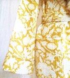 UITVERKOCHT-kimono quilted katoen -maisgeel op wit_