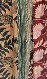 UITVERKOCHT-sjaal vintage recycled crêpe silk 1-big flower red/green_