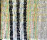 sjaal wol grof -mixed stripe_