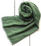 sjaal cashmere - visgraat 1 licht grijs/groen_