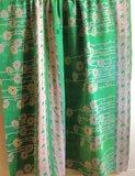 deken / quilt vintage katoen 2 - groen-geel/groen-rood bloem_