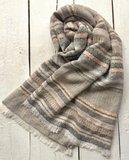 sjaal  jaquard weefsel naturel colours_