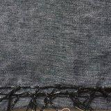 sjaal/omslagdoek mixed wool -anthraciet/licht grijs_