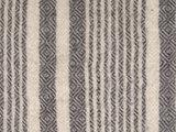 detail plaid graphic streep 100 % wol grijs