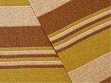 detail grand foulard katoen army/browne stripe