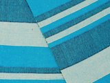 detail grand foulard katoen -aqua/blue stripe