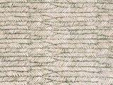 detail sierkussenhoes katoen blockprint 65x65 leaf -army