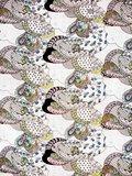 stofdetail kimono katoen printed- fantasy flower- on white