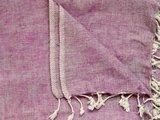 DETAIL deken wolmix/katoen gemêleerd l.paars