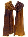 sjaal cashmere 2-tone tabak