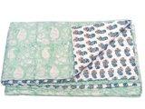 deken quilt peuter/kind -pistache/off white