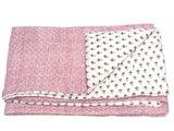 deken quilt peuter/kind -roze/wit