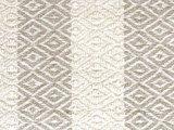 stofdetail plaid grafisch jaquard- off white/taupe diamond stripe