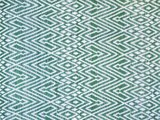 stofdetail sprei eenpersoons grafisch jaquard white/green