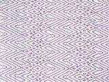 stofdetail sprei eenpersoons grafisch jaquard white/mauve-violet