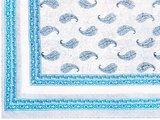 sprei/stranddoek XL paisley grijs/blauw