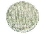 poef blockprint dhurrie leaf