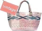 tas shopper XL vintage stof Boho-style pastel ikat mix 3040-3