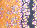 detail deken quilt vintage katoen -roze/oranje retrodessin 2861-1