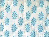 stofdetail deken quilt peuter/kind -olijf/aqua/wit