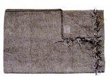 deken wolmix/katoen gemêleerd warm grijs/bruin