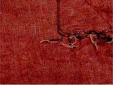 detail deken wolmix/katoen gemêleerd koperrood/wart